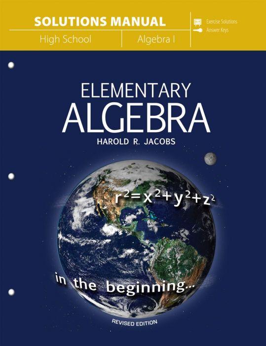 Elementary Algebra (Solutions Manual - Download)