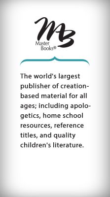 The world's largest publisher of creation-based material for all ages; including apologetics, home school resources, reference titles, and quality children's literature. - Master Books