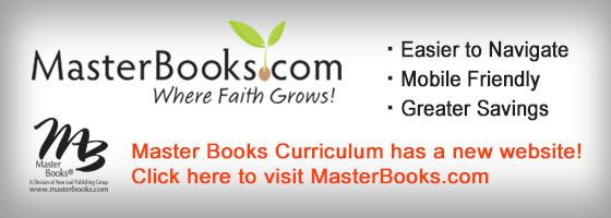 Master Books Curriculum has a new website! Visit us at masterbooks.com